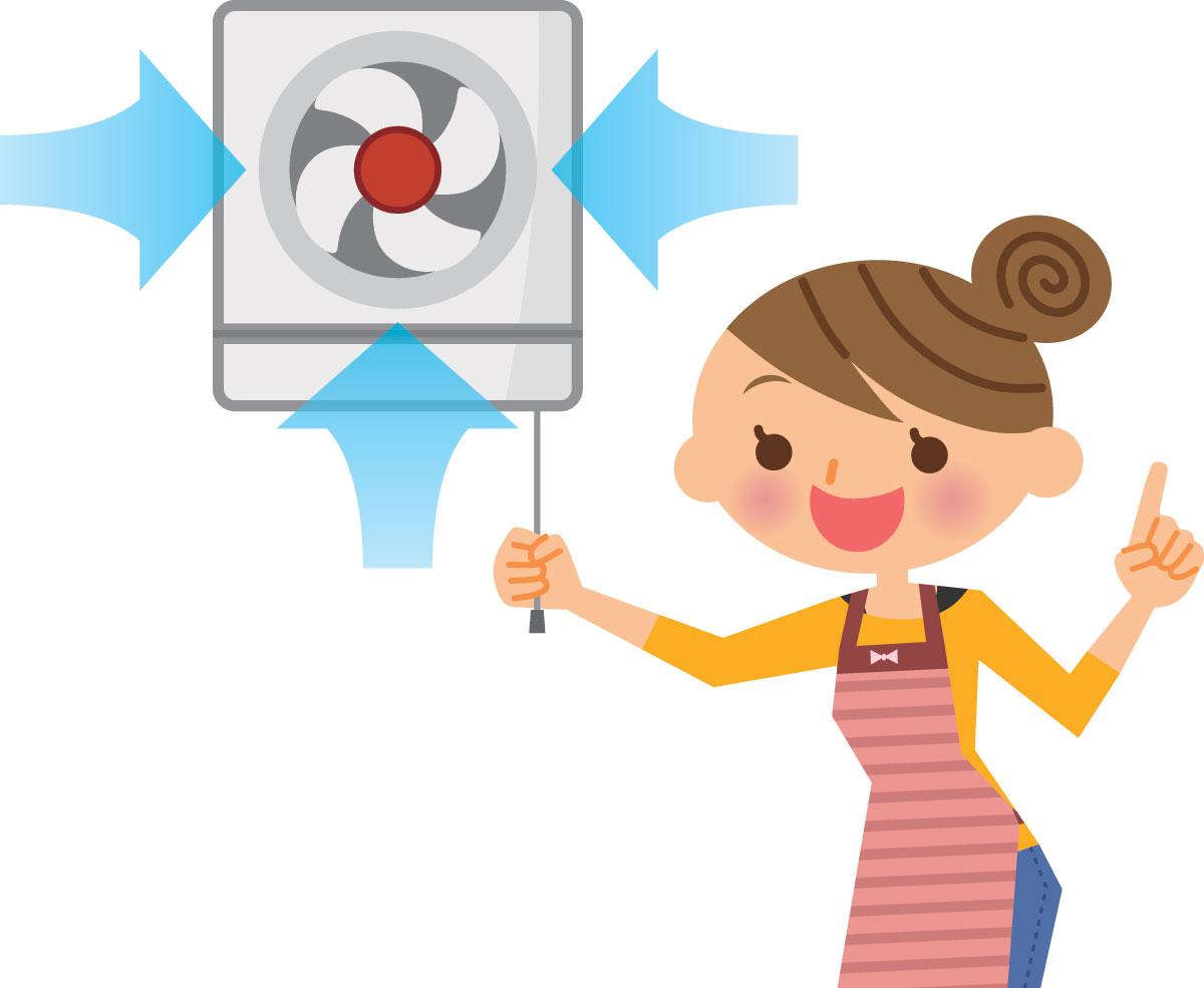 換気効率最適化によるお部屋の無料消臭方法
