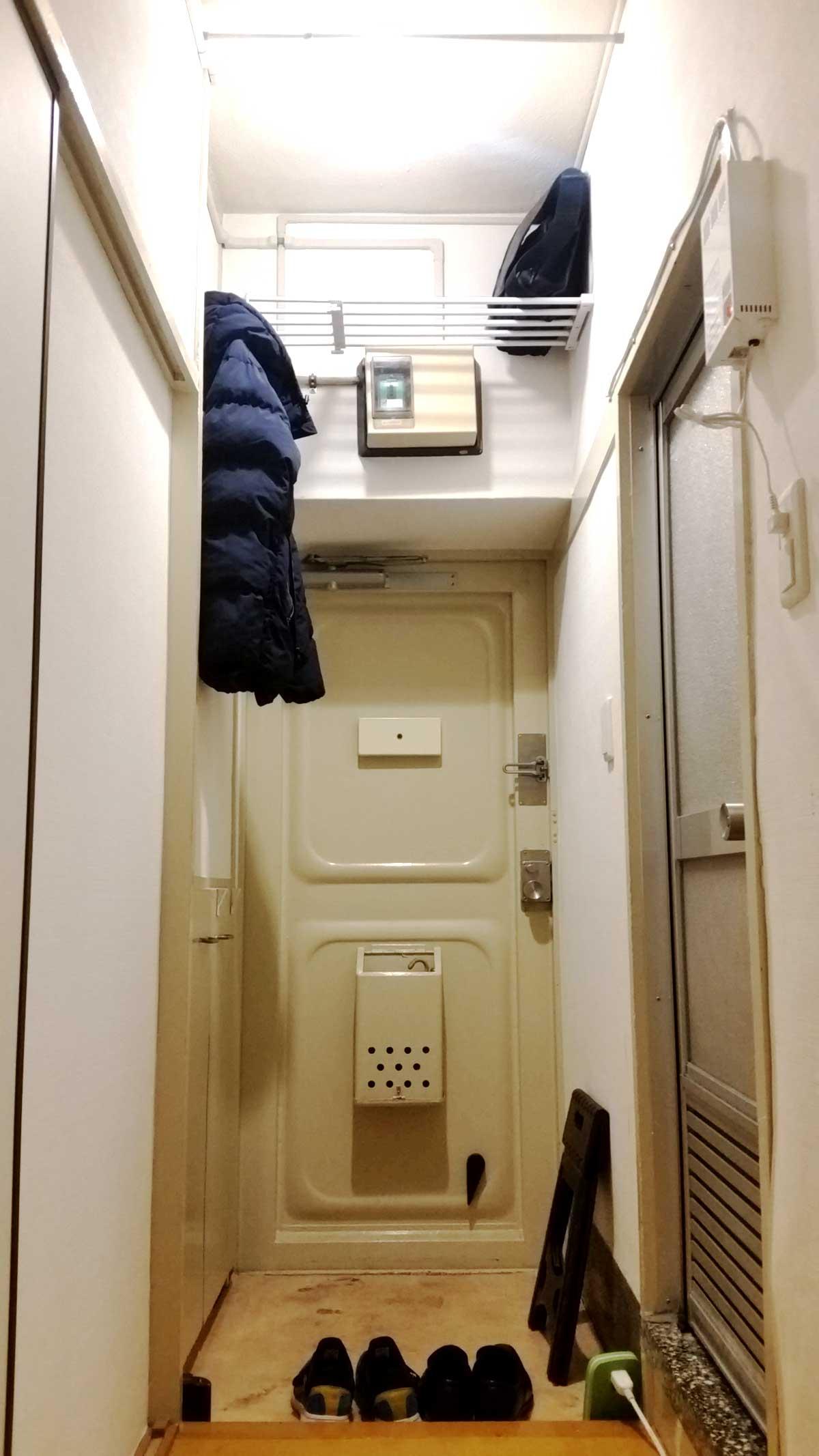 間取り別 最適ウイルス対策除菌室DIY 間口2m未満の小さな玄関