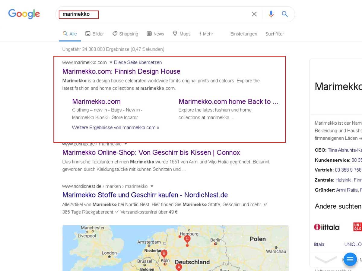 マリメッコ ご当地検索
