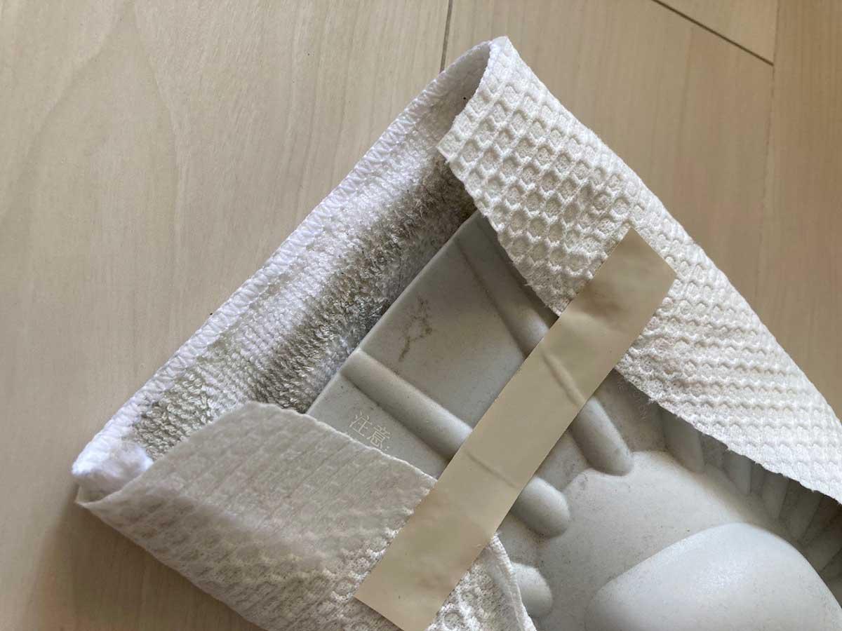 雑巾ごと強化ペーパータオルでカバー
