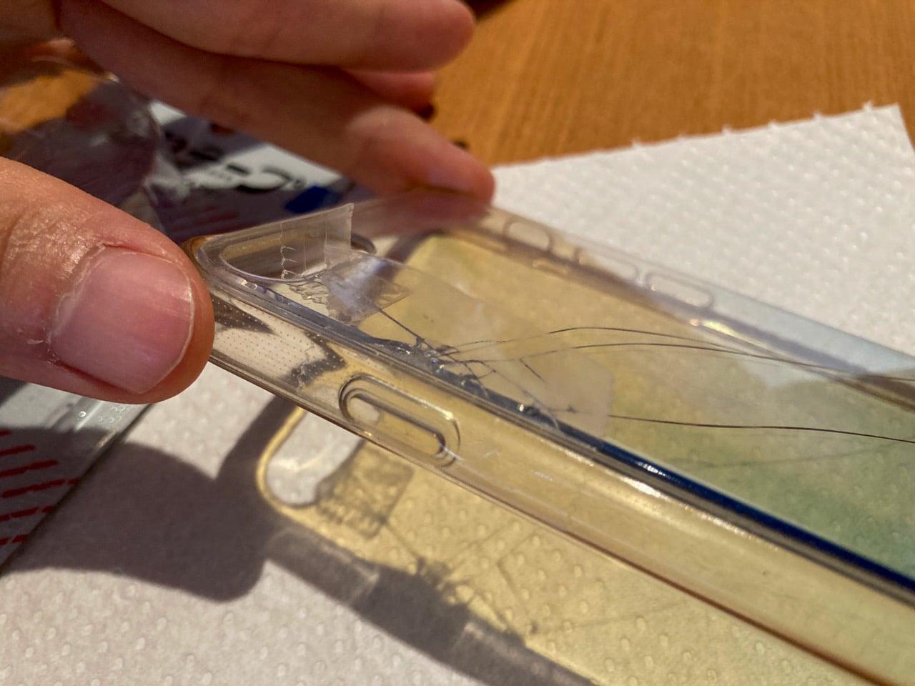 セロテープを透明型枠に使う