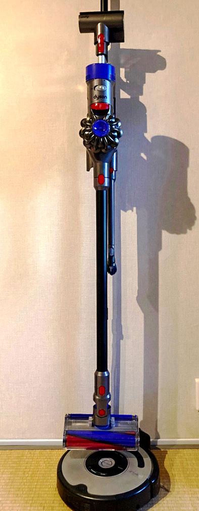 ダイソンスタンド簡単DIY ルンバOK公式純正品流用自作