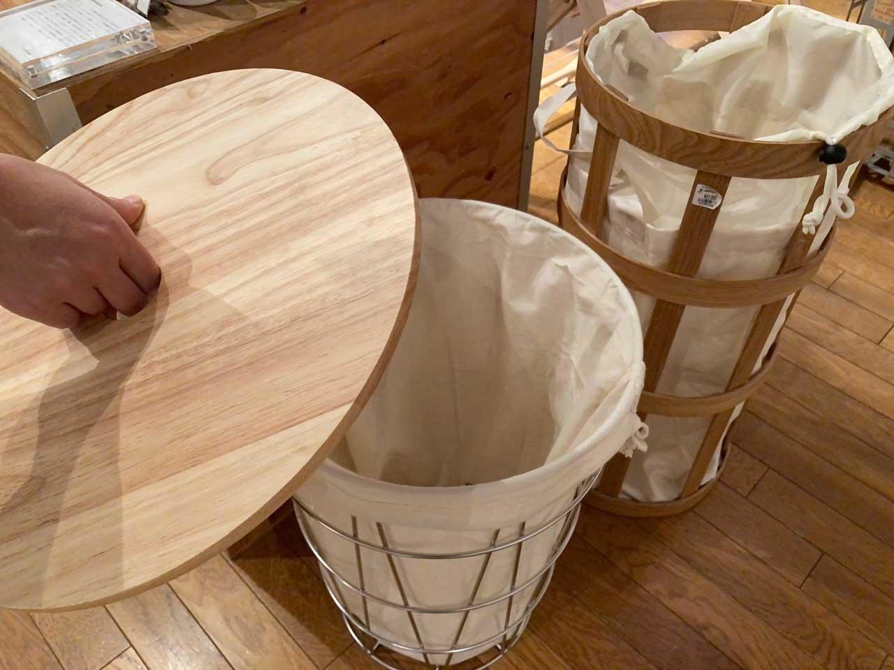 スペースがある場合、洗濯カゴの代わりに新しいゴミ箱を使う